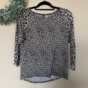 ✨ H&M Divided | Cheetah Long Sleeve Top, Sz M